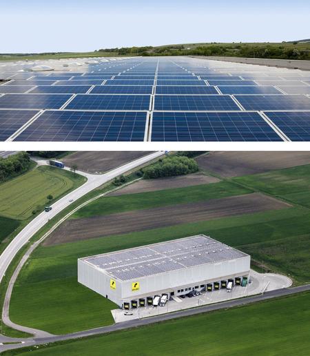 ÖKOSTROM bei KOLARZ<br> Photovoltaikanlage im <br>Logistik Center Müllendorf