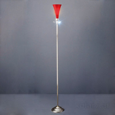0015.40.5.3 Silver, Red, Ø16cm, Length 32cm, Max. height 145cm, 1 light, G9