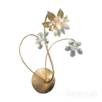 0043.61.3 24 Carat Gold, Width 22cm, Height 30cm, 1 light, G9