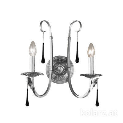 0057.62.9.Bk Silver, Length 38cm, Width 38cm, 2 lights, E14
