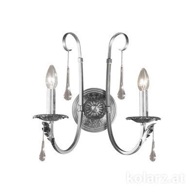 0057.62.9.T Silver, Width 38cm, Max. height 38cm, 2 lights, E14