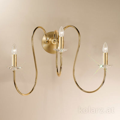 0112.63.3.KpT 24 Carat Gold, Width 80cm, Max. height 52cm, 3 lights, E14