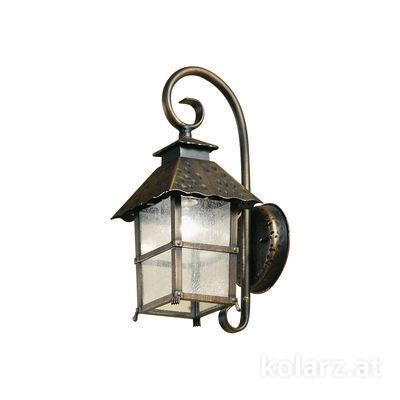 0139.61 Бронза/Золото, Прозрачный, Ширина 18cm, Высота 42cm, 1 лампа, E27