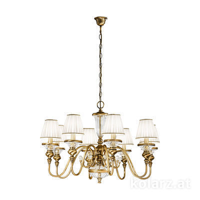 0146.88 Antique Brass, Ø80cm, Height 50cm, Min. height 65cm, Max. height 215cm, 8 lights, E14