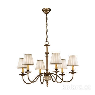 0195.86.4 Antique Brass, Ø78cm, Height 59cm, Min. height 80cm, Max. height 125cm, 6 lights, E14
