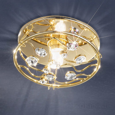 0215.11E.3.OSsT 24 Carat Gold, Ø11cm, Height 6cm, 1 light, GU10