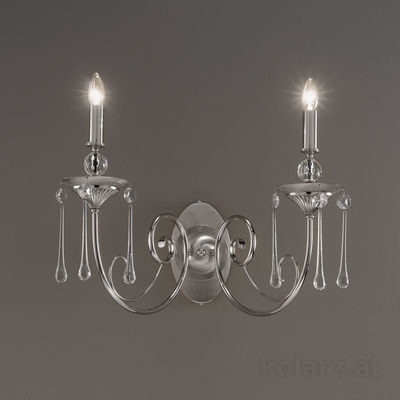 0224.62L.6 Nickel, Transparent, Width 61cm, Max. height 42cm, 2 lights, E14