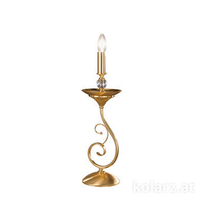 0224.71.3 24 Carat Gold, Transparent, Ø14cm, Height 50cm, 1 light, E14