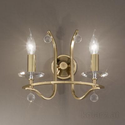 0230.62.7.Kp.SsT Engl. Brass, Width 30cm, Max. height 33cm, 2 lights, E14