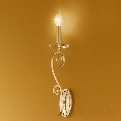 0232.60F.3.KpT 24 Carat Gold, Width 10cm, Height 42cm, 1 light, E14