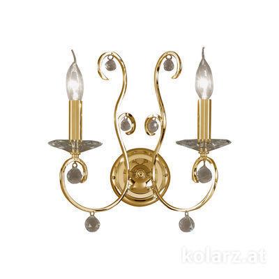 0232.62.3.KpT 24 Carat Gold, Width 32cm, Height 36cm, 2 lights, E14