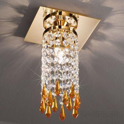 0239.11.3.SpTSsA 24 Carat Gold, Length 15cm, Width 15cm, Height 25cm, 1 light, G9