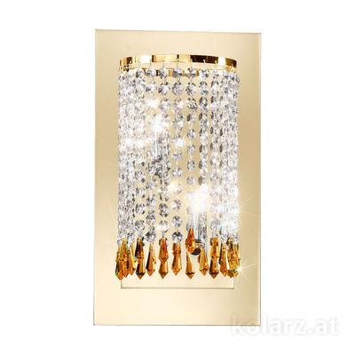 0239.62.3.SpTSsA 24 Carat Gold, Width 22cm, Height 40cm, 2 lights, G9