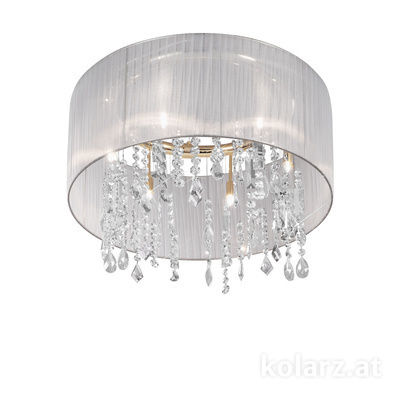 0240.86.3.W.KoT 24 Carat Gold, Ø60cm, Height 50cm, Min. height 70cm, Max. height 250cm, 6 lights, G9