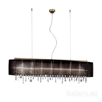 0240.87.3.Bk.KoT 24 Carat Gold, Length 140cm, Width 27cm, Height 50cm, Min. height 57cm, Max. height 250cm, 7 lights, G9