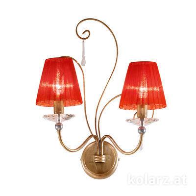 0242.62.SG.Ko Silber/Gold, Breite 30cm, Höhe 45cm, 2-flammig, E14