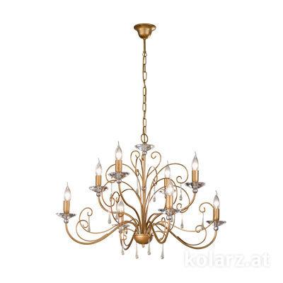 0242.85.SG.Ko Silver/Gold, Ø65cm, Height 52cm, Min. height 72cm, Max. height 115cm, 5 lights, E14