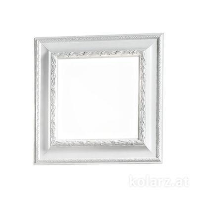 0244.12M.W White, White, Length 47cm, Width 47cm, Height 7cm, 2 lights, E14