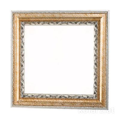 0244.14.Ag Silver Leaf, White, Length 57cm, Width 57cm, Height 7cm, 4 lights, E14