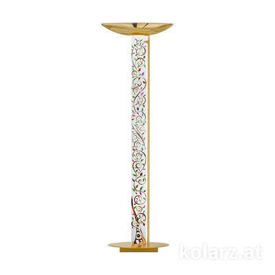 0252.41.3.Al.Mt 24 Carat Gold, Length 60cm, Width 26cm, Height 185cm, 2 lights, R7s 118mm