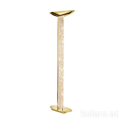 0252.41.3.Aq.Ch 24 Carat Gold, Length 60cm, Width 26cm, Height 185cm, 2 lights, R7s 118mm