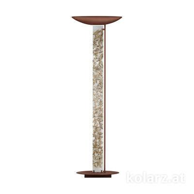0252.41.Co.Li.SA Corten, Length 60cm, Width 26cm, Height 185cm, 2 lights, R7s 118mm