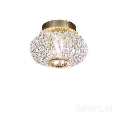 0256.11.3.KpT 24 Carat Gold, Ø17cm, Height 15cm, 1 light, G9