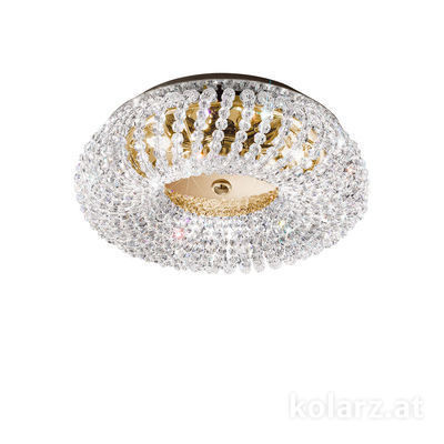 0256.13L.3.KpT 24 Carat Gold, Ø35cm, Height 16cm, 3 lights, G9