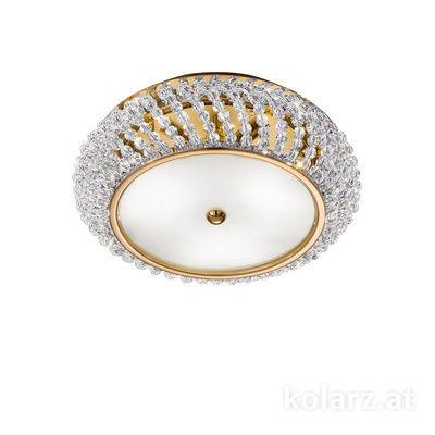 0256.13S.3.KpT 24 Carat Gold, Ø35cm, Height 12cm, 3 lights, G9