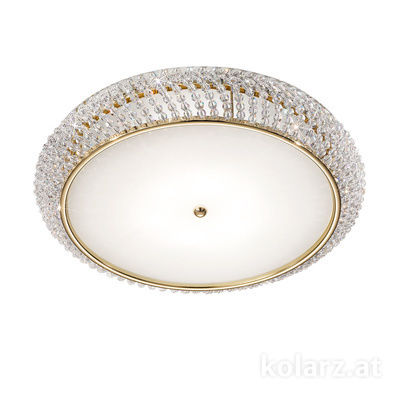 0256.15S.3.SsT 24 Carat Gold, Ø55cm, Height 12cm, 5 lights, G9