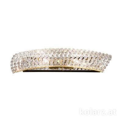 0256.62.3.KpT 24 Karat Gold, Breite 41cm, Höhe 7cm, 2-flammig, G9