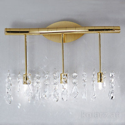 027.63.3 HS 24 Carat Gold, Length 49cm, Height 28cm, 3 lights, G9