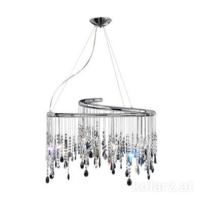 027.810.5.STR JET Chrome, Ø80cm, Height 50cm, Min. height 75cm, Max. height 250cm, 10 lights, G9
