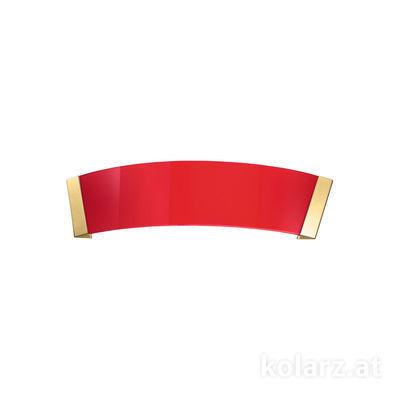 0295.61.3.R 24 Carat Gold, Red, Width 41cm, Height 11cm, 1 light, R7s 78mm