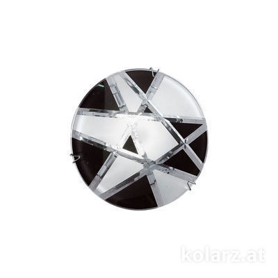 0296.11E.5.WBk Chrome, Black/White, Ø11cm, Max. height 55cm, 1 light, GU10