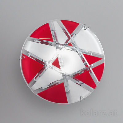 0296.11E.5.WR Chrome, White/Red, Ø11cm, Max. height 55cm, 1 light, GU10