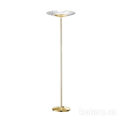 0296.41.3.WW 24 Carat Gold, White, Ø54cm, Max. height 180cm, 1 light, R7s 118mm