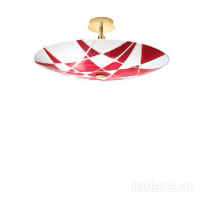 0296.55M.3.WR 24 Carat Gold, Ø54cm, Max. height 30cm, 5 lights, E14