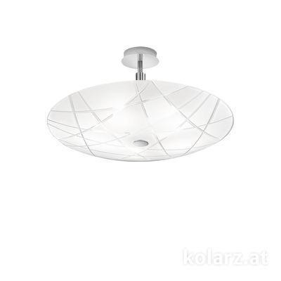 0296.55M.5.WW Хром, Белый, Ø54cm, Макс. высота 30cm, 5 ламп, E14