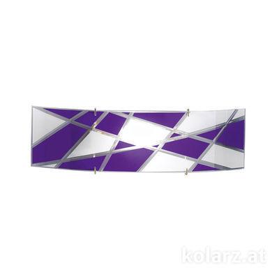 0296.61S.5.41.WV Chrome, Violet, Length 11cm, Width 41cm, 1 light, R7s 78mm