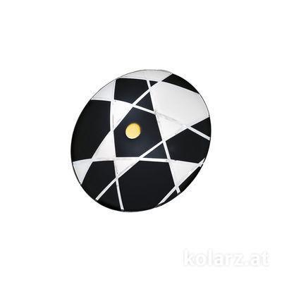 0296.U12.3.WBk 24 Carat Gold, Black, Ø32cm, Max. height 7cm, 2 lights, E14