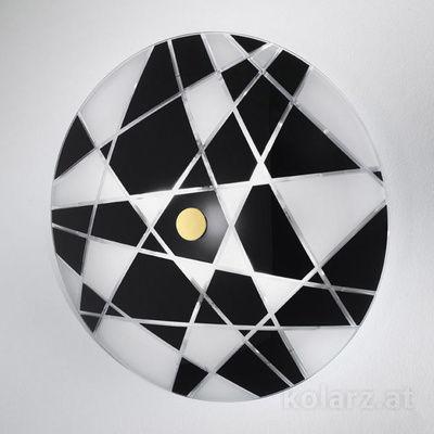 0296.U15.3.WBk Black/White, Ø62cm, Max. height 8cm, 5 lights, E27