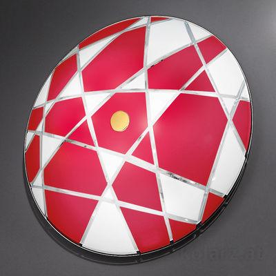 0296.U15.3.WR White/Red, Ø62cm, Max. height 8cm, 5 lights, E27