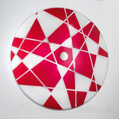 0296.U15.5.WR Chrome, White/Red, Ø62cm, Max. height 8cm, 5 lights, E27