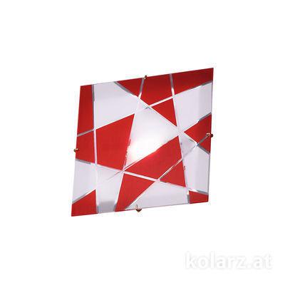 0296.UQ21.3.WR 24 Carat Gold, Red, Ø20cm, Length 20cm, Width 20cm, Max. height 5cm, 1 light, G9