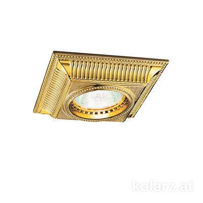 0297.10Q.3 24 Carat Gold, Length 10cm, Width 10cm, Height 5cm, 1 light, GU10