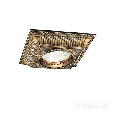 0297.10Q.4 Antique Brass, Length 10cm, Width 10cm, Height 5cm, 1 light, GU10
