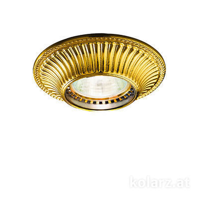 0297.10R.3 24 Carat Gold, Ø10cm, Height 5cm, 1 light, GU10