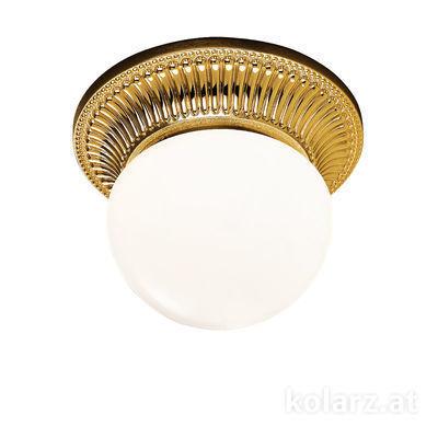 0297.11.15 French Gold, White, Ø16cm, Height 12cm, 1 light, G9