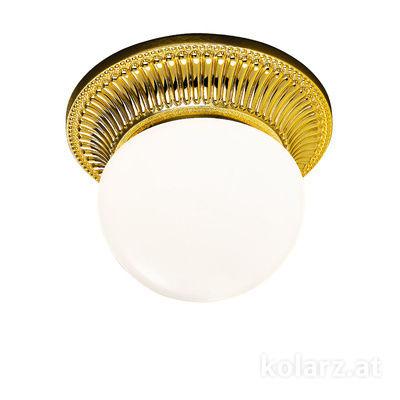 0297.11.3 24 Carat Gold, White, Ø16cm, Height 12cm, 1 light, G9